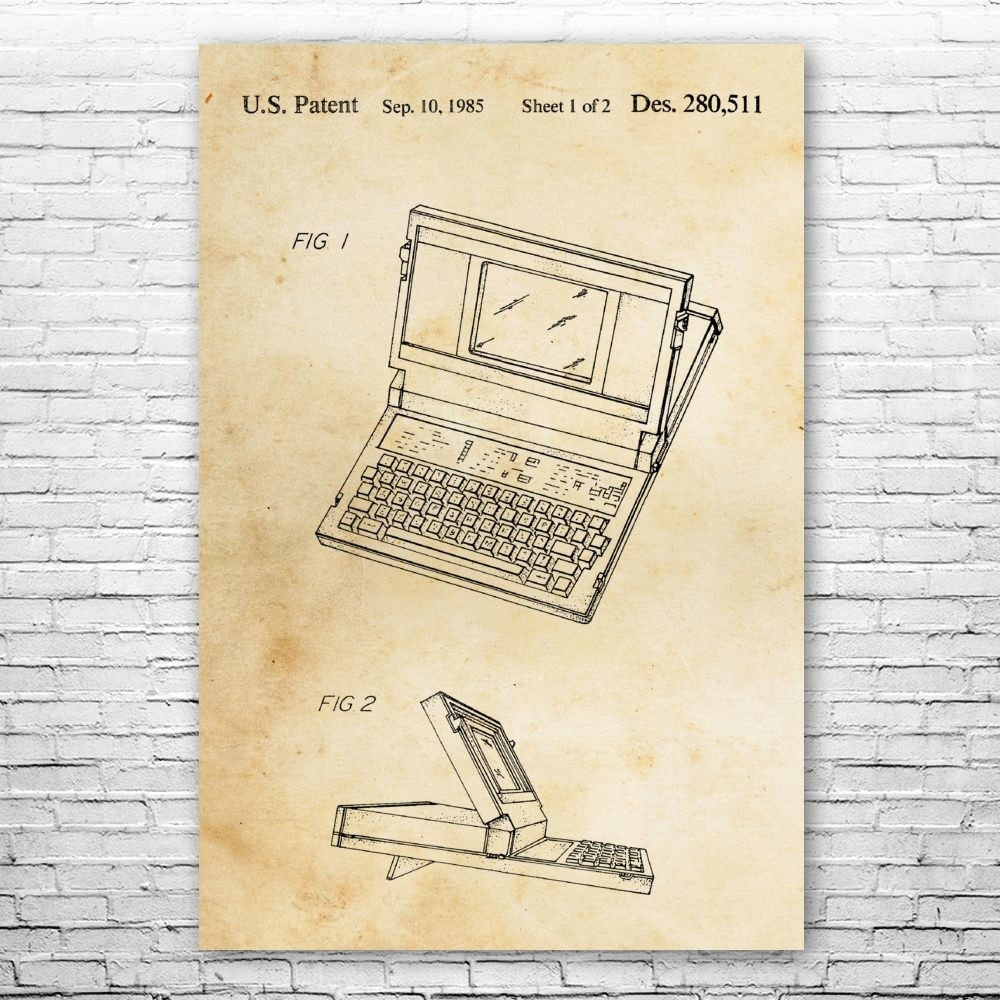 Programmer Gift Repair Shop Tee Computer Science Tee Patent Earth Laptop Computer T-Shirt