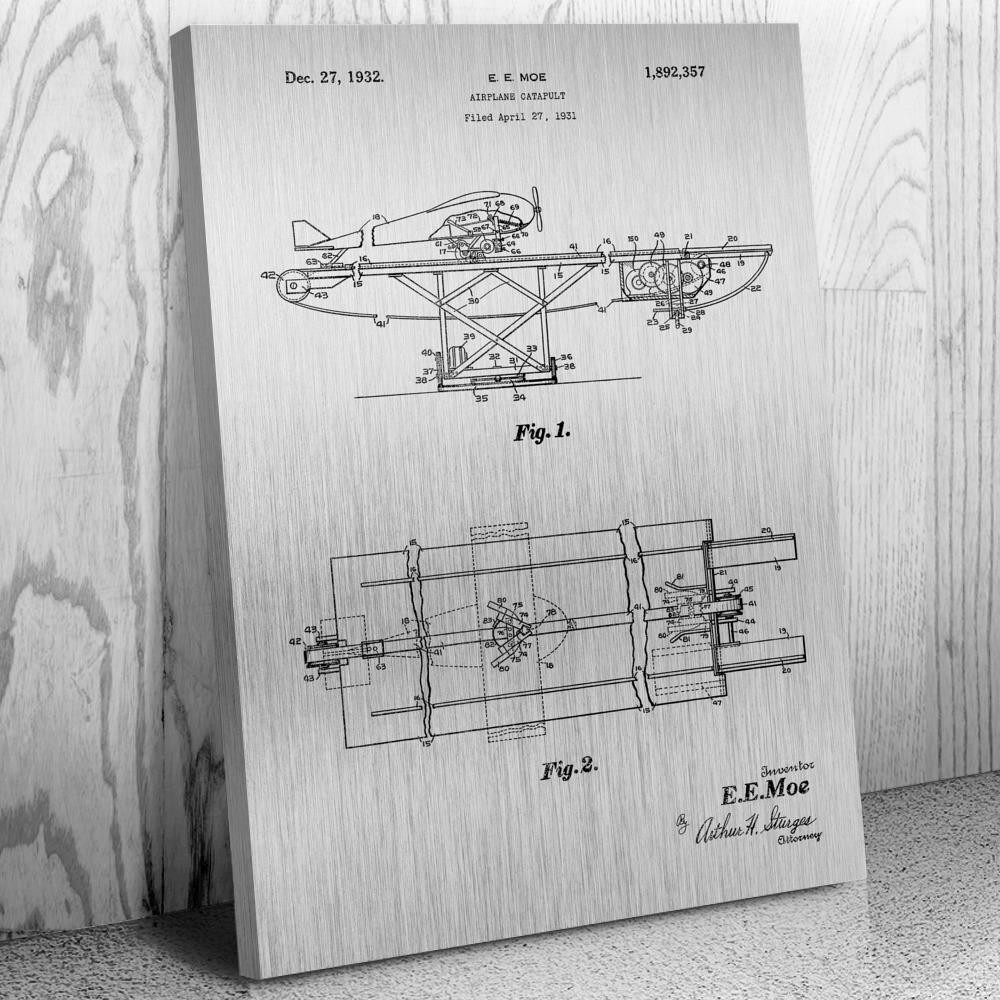 Airplane Catapult, Air Force Pilot, Sailor Gift, Marines, Navy Pilot, Military Aircraft, Aviation Gift, Plane Diagram, Naval Gift, Aviator Gift, ...