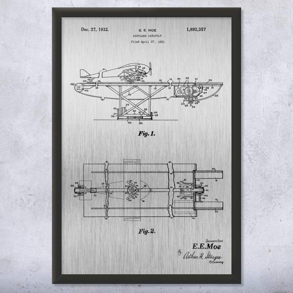 Aircraft Carrier Catapult Framed Print on