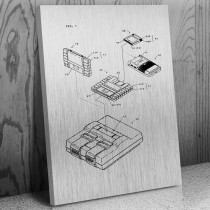 Nintendo Super GameBoy SNES Adapter Canvas Patent Art Print Gift