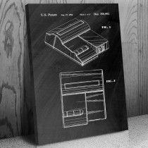 Nintendo Top Loader NES Video Game System Canvas Patent Art Print Gift