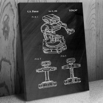 Nintendo ROB Robotic Operating Buddy Canvas Patent Art Print Gift