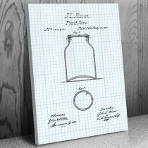 Mason Fruit Jar Canvas Patent Art Print
