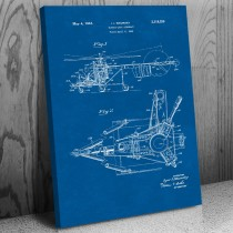 Sikorksy Helicopter Canvas Patent Art Print