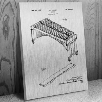 Marimba Keyboard Percussion Canvas Patent Art Print