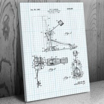 Kick Bass Drum Pedal Canvas Patent Art Print
