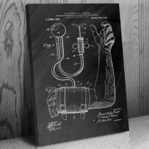 Blood Pressure Cuff Canvas Patent Art Print